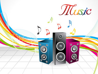 abstract colorful musical background