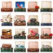 valigie vintage collage
