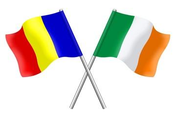Flags : Romania and Ireland