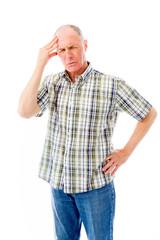 Senior man suffering from headache