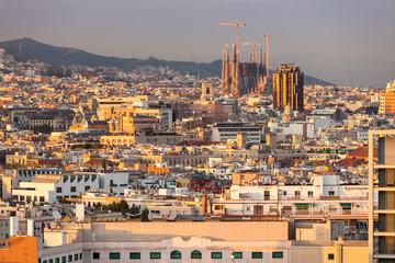 Panorama di Barcellona, Spagna