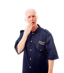 Policeman looking shocked