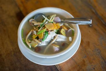 fish soup - tom yam - tom yam pla Thai Food