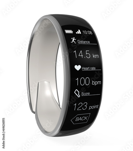 Smart wristband isolated on white background - 64626893