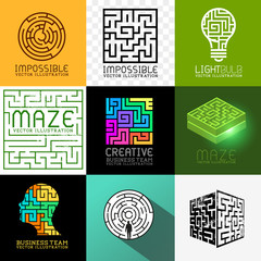 Vector Maze and Puzzle Collection