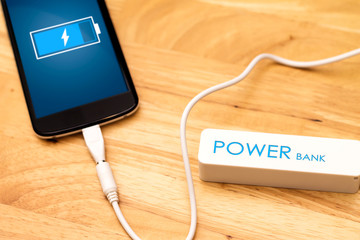 Phone charging with energy bank.