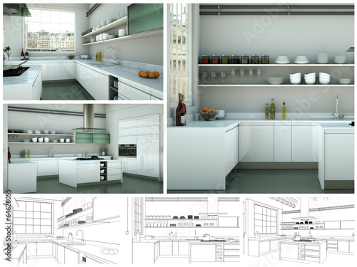 Plan moderne Wohnung