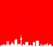 Essen Skyline rot