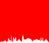 Skyline Nürnberg rot