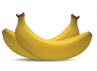 Banana Vector Isolate On White Background