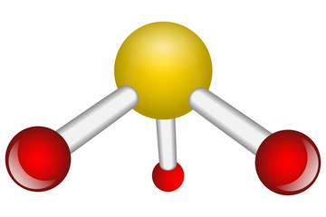 Single Ammonia NH3 molecule