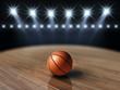Ball on basketball court , Basketball arena