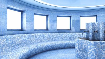 Dry heat treatment room , Roman sauna interior