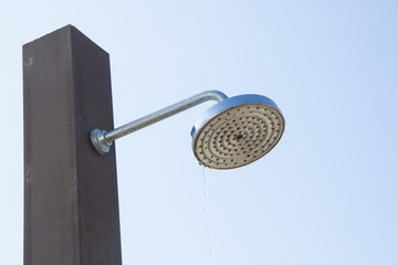 Shower head in the outdoor scene