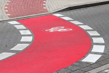 Bicycle path in Germany