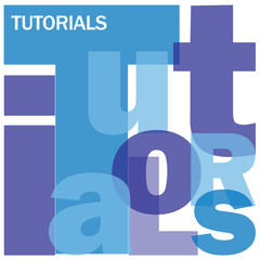 TUTORIALS Letter Collage (e-learning mooc online)