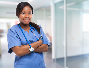 Portrait of a black nurse