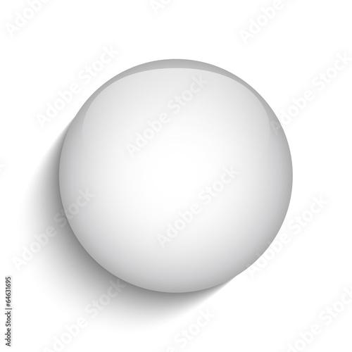 White Glass Circle Button Icon
