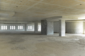An empty building before getting fit out - construction