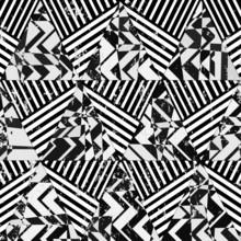 illustration abstraite géométrique, des triangles et des rayures, vecteur