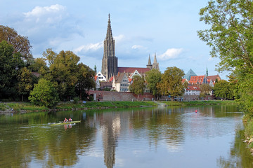 Ulm Minster and Danube River