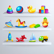 Toys icons shelf - 64634203