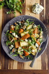 Roasted root and rocket salad