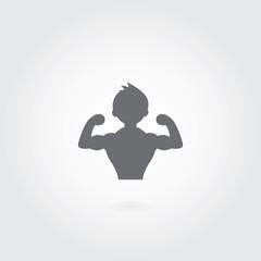 vector sportsman fitness club icon