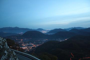 Avellino, panorama da Montevergine