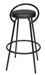 high black bar stool isolated on white background.