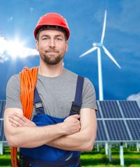 Montage Facharbeiter erneuerbare Energien