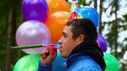 Boy in a birthday party at outdoors episode 1