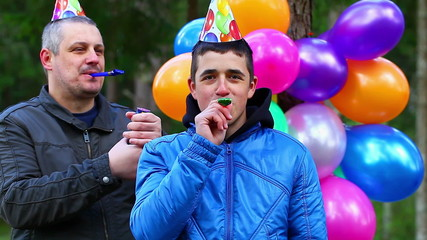 Boy in a birthday party at outdoors episode 5