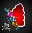 Elegant Classic Christmas Background with baubles