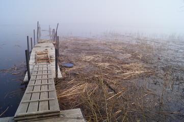Понтон в тумане