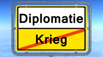diplomatie statt krieg