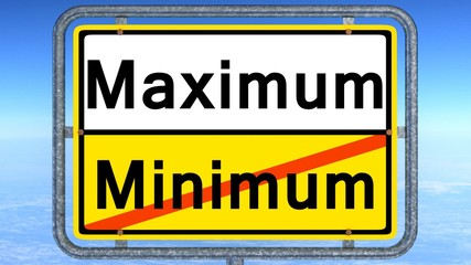 maximum statt minimum