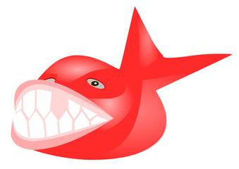 kırmızı dişi eksik balık