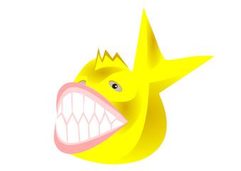 sarı renkli balık tasarımı
