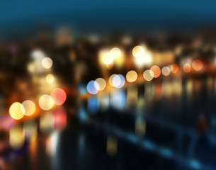 Blur city lights bokeh