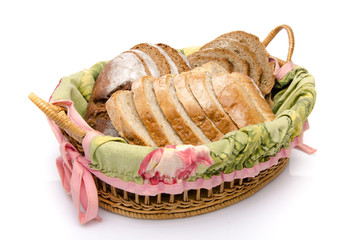 Sliced bread in a basket