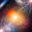 Electricity flashes in deep space