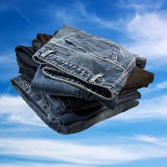 Jeans und Himmel