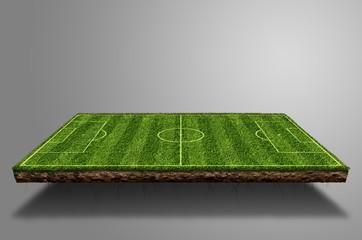 Fussball Spielfeld Schwebend