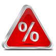 Button mit Prozent Symbol