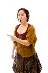 Young woman scolding