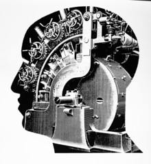 Kopf mit Maschinenfüllung