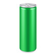 Green Metal Aluminum Beverage Drink Can. Ready For Your Design