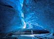 Leinwandbild Motiv Blue ice cave