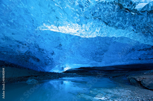 Poster Gletsjers Blue ice cave